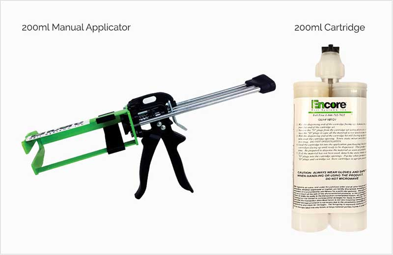 Encore Rail Systems 200ml Tie Plugger Applicator and Cartridge